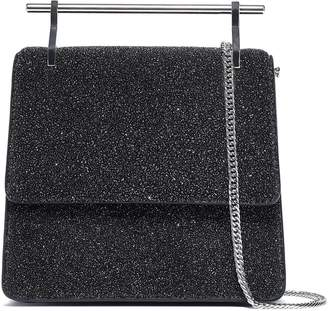 M2Malletier Mini Collectionneuse Glittered Leather Shoulder Bag