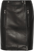 Karl Lagerfeld Leather Mini Skirt - Black