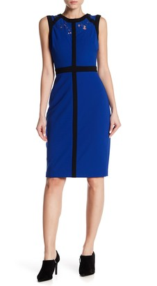 Gabby Skye Colorblock Illusion Sheath Dress