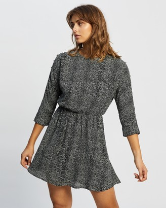 Atmos & Here Atmos&Here - Women's Black Mini Dresses - Chloe Mini Dress - Size 6 at The Iconic