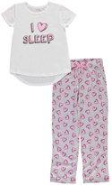 "Delia's Big Girls' ""Sleeping Hearts"" 2-Piece Pajamas"