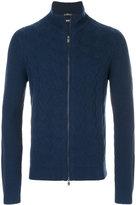 HUGO BOSS knitted zip jacket