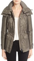 Burberry 'Bosworth' Mid Length Quilted Coat