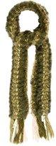 Adrienne Landau Embellished Knit Scarf