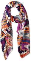 Theodora & Callum Women's Cheyenne Wearable Art Blanket Scarf, Orange Multi