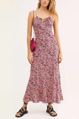 Free People Bon Voyage Floral Midi Dress Multi XS