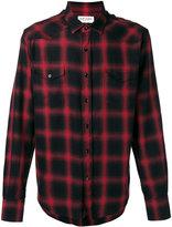 Saint Laurent plaid shirt - men - Cotton/Tencel - 41