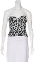 Moschino Cheap & Chic Moschino Cheap and Chic Leopard Jacquard Bustier Top w/ Tags