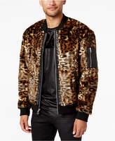 GUESS Men's Faux-Fur Bomber Jacket