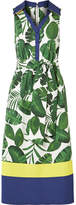 Alice + Olivia Alice Olivia - Margot Printed Cotton-poplin Dress - Green