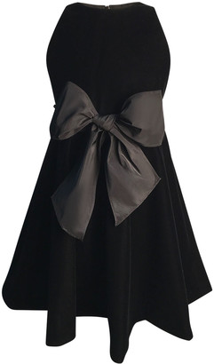Helena Girl's Sleeveless Velvet Bow Dress, Size 2-6