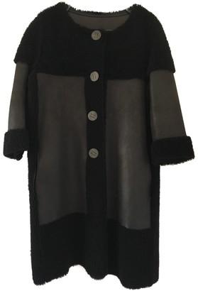 Karl Donoghue Black Leather Coat for Women