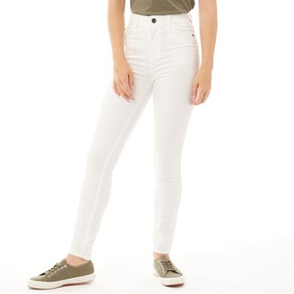 Bench Womens Fay Skinny Fit Jeans White