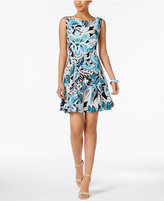 Connected Floral-Print Fit & Flare Dress