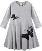 Little Spring LittleSpring Little Girls' Dresses Butterfly Size 6-7 US