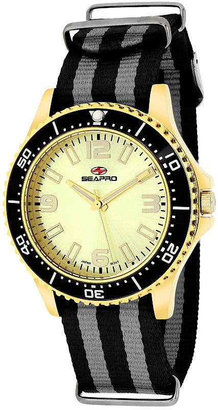 Seapro Sea-Pro Tideway Womens Two Tone Strap Watch-Sp5419nbk