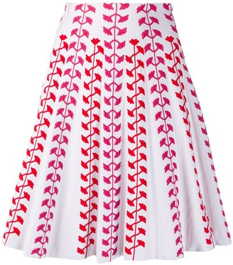Antonino Valenti Woven Floral Skirt