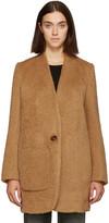 Helmut Lang - Manteau en laine brun S