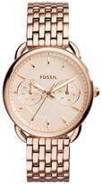 Fossil Women's Rose -Tone Steel Bracelet & Case Quartz Analog Watch ES3713