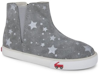 See Kai Run Little Girl's & Girl's Keegan Printed Suede Chelsea Boots