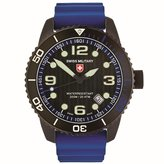 Swiss Military Men's Navy 42mm Silicone Band Swiss Quartz Watch 2707