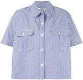 Chalayan striped cape shirt - women - Cotton - 40