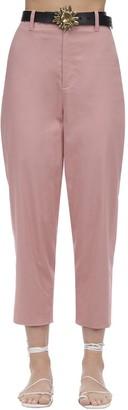 ÀCHEVAL PAMPA Al Viento Cropped Cotton Satin Pants