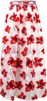 Tory Burch floral print empire skirt - women - Viscose/Polyester - 4