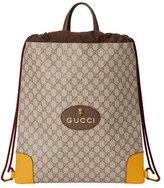 Gucci GG Supreme Drawstring Backpack