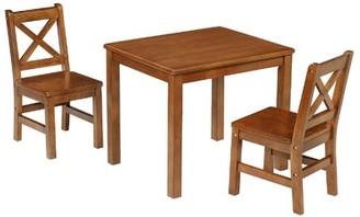 Myona Kids 3 Piece Table and Chair Set Harriet Bee Color: Dark Oak