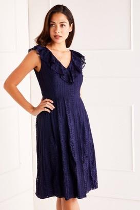 Yumi V Neck Lace Dress