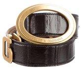 Dolce & Gabbana Eel Skin Belt