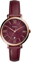 Fossil Women's Jacqueline Red Leather Strap Watch 36mm ES4099