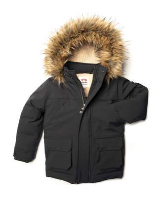 Appaman Denali Down Sherpa-Lined Coat w/ Faux Fur Trim, Size 2-10