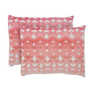 "Ivory Ella 21""x27"" Tessie Ultra Soft Pillow Sham Coral"