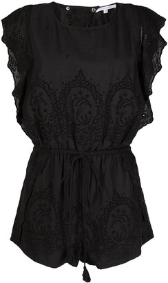 Patrizia Pepe Embroidered Floral Playsuit