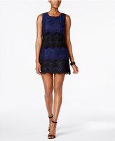 Jessica Simpson Scalloped Lace Popover Dress