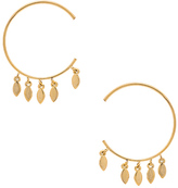 Luv Aj Marquise Swing Through Hoops Earring in Metallic Gold.