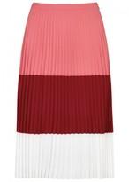 BOSS Visena Tri-tone Pleated Skirt