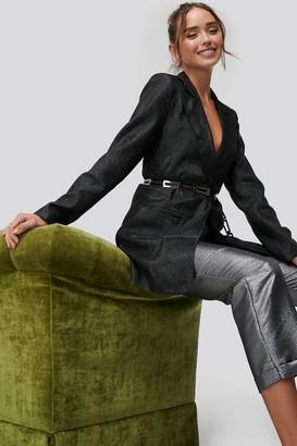 NA-KD Glittery Long Blazer
