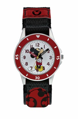 Mickey Mouse Boys Analogue Quartz Watch with Textile Strap MK5151