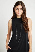 BCBGeneration Minimal Curb Chain Necklace - Silver