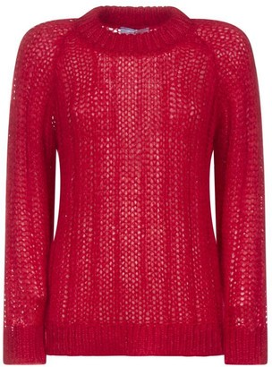 Prada Ribbed Knitted Sweatshirt