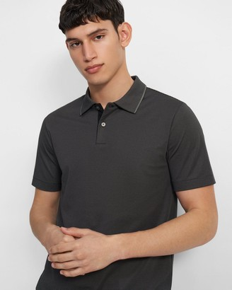 Theory Standard Polo Shirt in Striped Cotton
