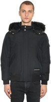Calvin Klein Jeans HOODED DOWN BOMBER JACKET W/FAUX FUR