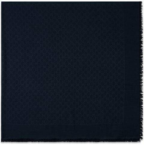 Thumbnail for your product : Gucci Silk wool GG jacquard shawl