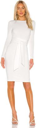 Alice + Olivia Delora Long Sleeve Tie Waist Dress