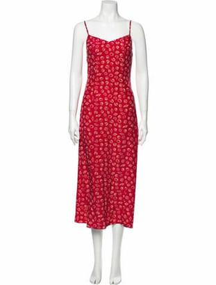 HVN Josephine Long Dress Red