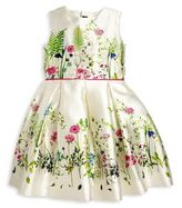 Oscar de la Renta Toddler's, Little Girl's & Girl's Botanical Print Silk Blend Dress