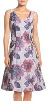 Adrianna Papell Floral Print Fit & Flare Dress (Regular & Petite)